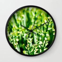 Green Tops Wall Clock