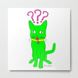 """""""Heckin Confused Derp Cat"""", by Brock Springstead Metal Print"""