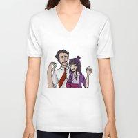 tina fey V-neck T-shirts featuring Ace Attorney: Phoenix Wright, Maya Fey by Brizy Eckert