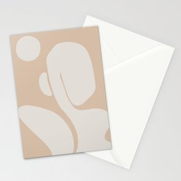 Figurative mid century abstract Stationery Cards