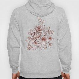 Line Flower Bouquet Hoody