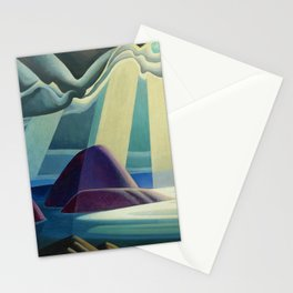 Lake Superior No. I, 1923 maritime seascape painting by Lawren Harris Stationery Cards