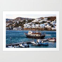 Mykonos, Greece. Art Print