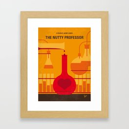 No976 My The Nutty Professor minimal movie poster Framed Art Print