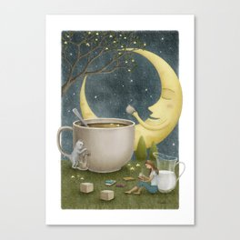 Midnight Coffee Canvas Print