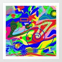 graffiti Art Prints featuring Graffiti by DesignsByMarly