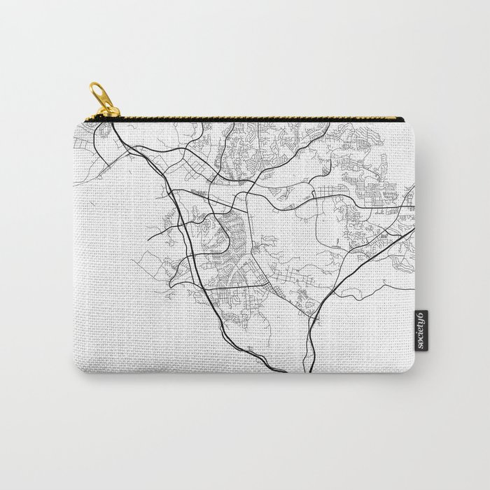 Minimal City Maps - Map Of Santa Clarita, California, United States Carry-All Pouch