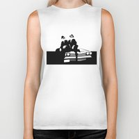 blues brothers Biker Tanks featuring Blues Brothers by Greg Koenig