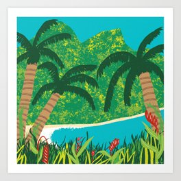 Tropical Island Getaway Art Print