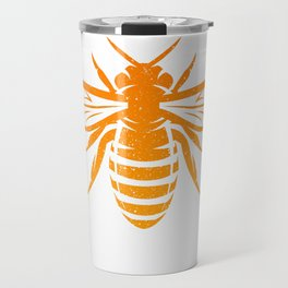 Funny Bee God Save The Queen Design Travel Mug