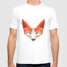 the glaring fox MEDIUM Mens Fitted Tee White