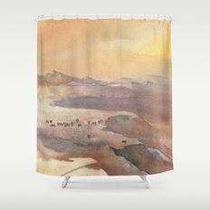 Foothill Grazing Shower Curtain