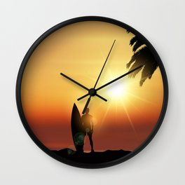 Him - Surf up -  Wall Clock