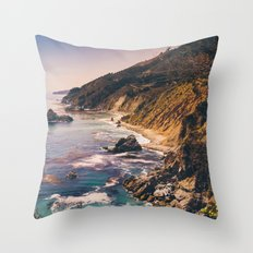 Big Sur Pacific Coast Highway Throw Pillow