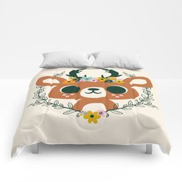 Deer with Flowers / Cute Animal Comforters