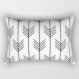 BELLE ((black on white)) Rectangular Pillow