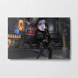 Street Samurai Metal Print