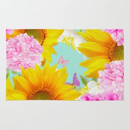 Summer Vibes With Colorful Flowers #decor #society6 #buyart Rug