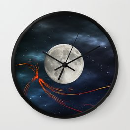 Fire streaks in the universe Wall Clock