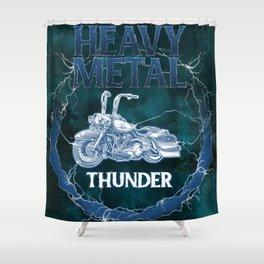 Heavy Metal Thunder Shower Curtain