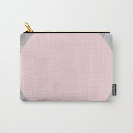 Gray and pink stone Carry-All Pouch