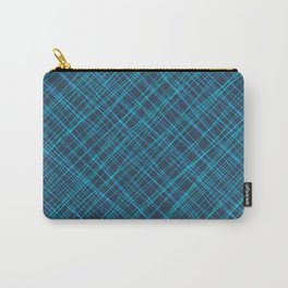 Royal ornament of their blue threads and luminous intersecting fibers. Carry-All Pouch