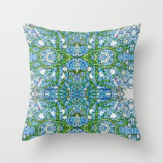 van gogh's almond tree Throw Pillow