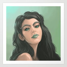 A nice girl from me Art Print