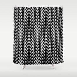 Black & White Spooky Eyes Shower Curtain