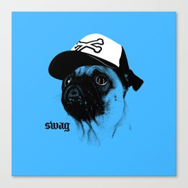 Pug Swag Canvas Print