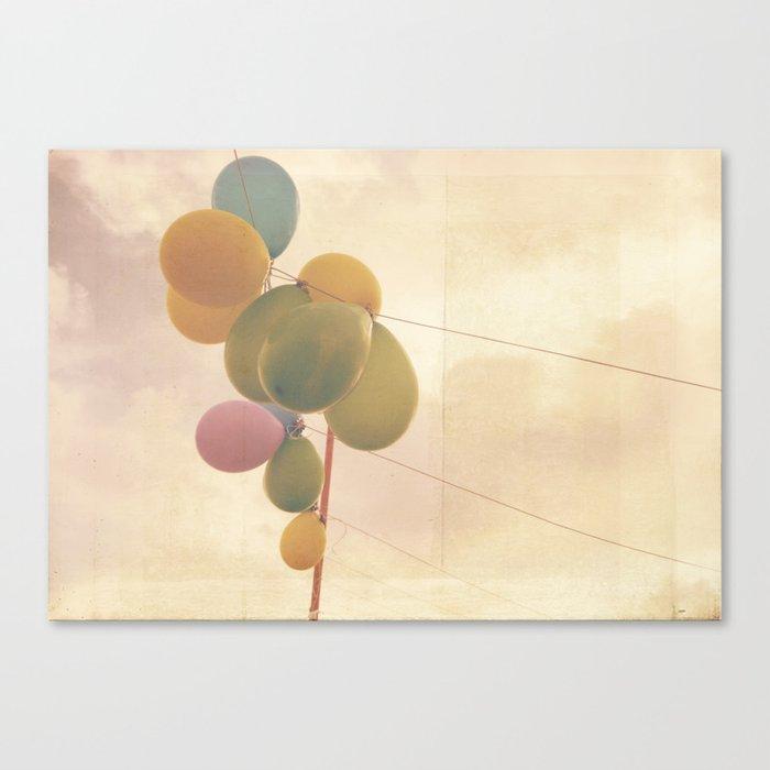 The Vintage Balloons Canvas Print