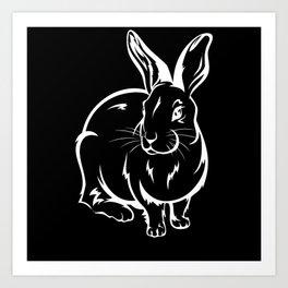 Bunny Rabbit Rabbit Friend Gift Art Print