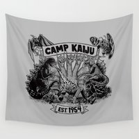 camp Wall Tapestries featuring Camp Kaiju by Austin James