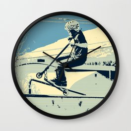 Getting Some Serious Air - Scooter Boy Wall Clock