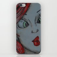 little mermaid iPhone & iPod Skins featuring Little mermaid by Nichola irvine art