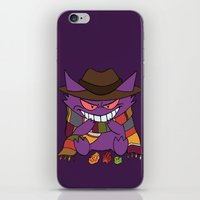 gengar iPhone & iPod Skins featuring Gengar Who? by Cat Vickers-Claesens