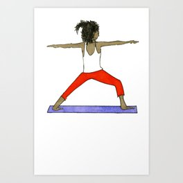 Yoga Folks - Warrior.   Art Print