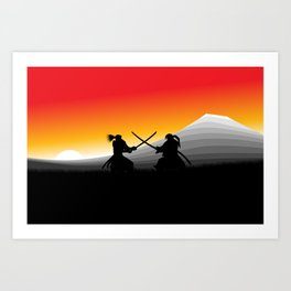 Samurai Standoff Art Print