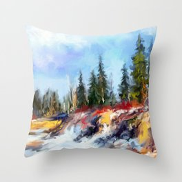 Spring day Throw Pillow