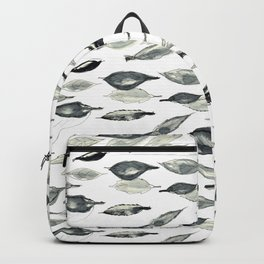 Autumnal leaves in grey Backpack