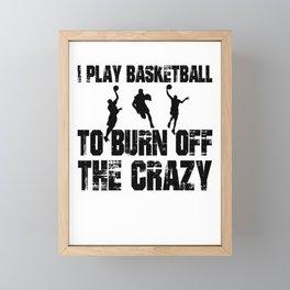 Basketball Framed Mini Art Print