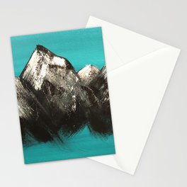 Turquoise Mountains by Noelle's Art Loft Stationery Cards
