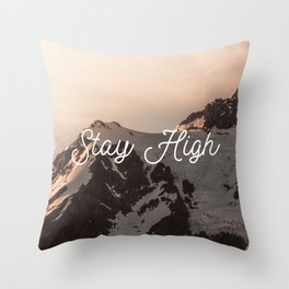 Stay High - Mt Shuksan Throw Pillow