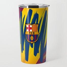 F C Barcelona : Mes Que Un Club , Visca forza Barca Travel Mug