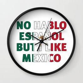 no hablo español Wall Clock