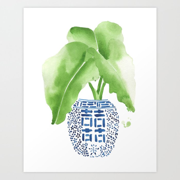 Ginger Jar + Elephant Ears Art Print