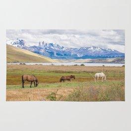 Torres del Paine - Wild Horses Rug