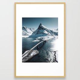 lofoten bridge Framed Art Print
