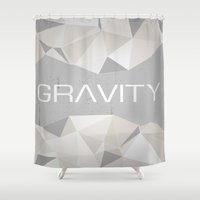 gravity Shower Curtains featuring Gravity by eARTh
