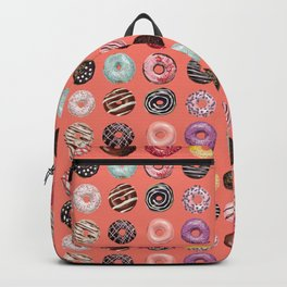donuts coral pink Backpack